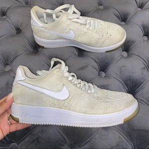 Size 8 Nike Air Force One (AF1) Knit Sneakers